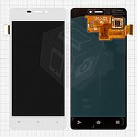 Дисплей + touchscreen (сенсор) для Fly IQ4516 Tornado, оригинальный (белый)