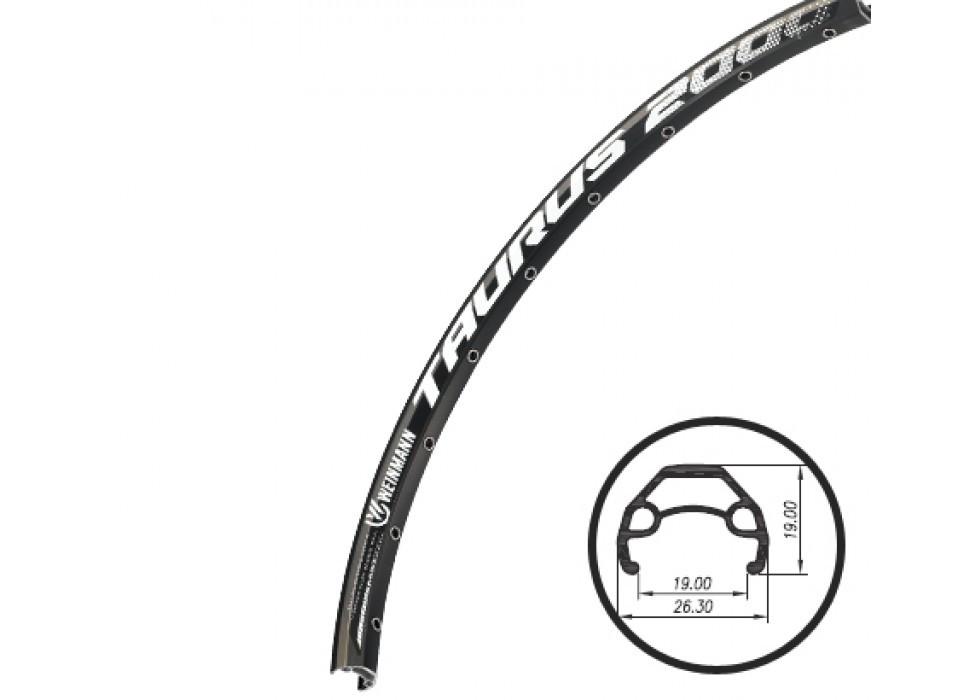 """Обод велосипедный 29"""" Weinmann Taurus алюминиевый черный"""