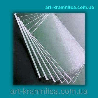 Пластиковое стекло (толщина 1 мм) резаное размером 15х21см