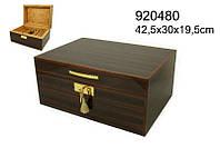 Хьюмидор 920480 для 100 сигар, коричневый, кедр, 42х30х19 см
