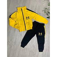 Желтый спортивный костюм для мальчика без капюшона р. 104-116