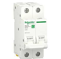 Автоматический выключатель RESI9 6kA 2р 32A C Schneider Electric