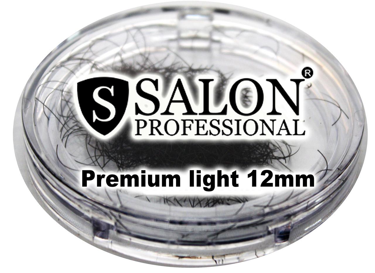 Ресницы накладные единичные SALON PROFESSIONAL (Premium light 12mm) ресницы для наращивания