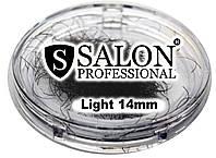 Ресницы накладные единичные SALON PROFESSIONAL (light 14mm) ресницы для наращивания