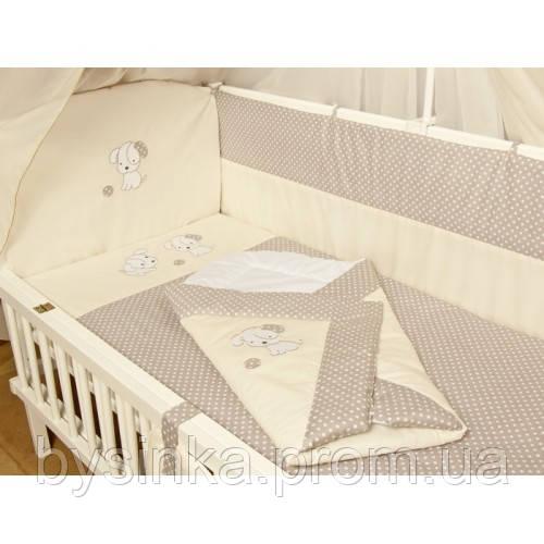 """Детское постельное в кроватку из 3-ед-""""Песик вышивка"""""""