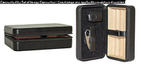 Хьюмидор 0257400 для 4 сигар, Сolton черн., дорожн., кожа+гильотина, 20х12,5х7см