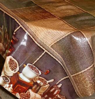 Клеёнка силикон непрозрачная Кофе капучино, фото 2