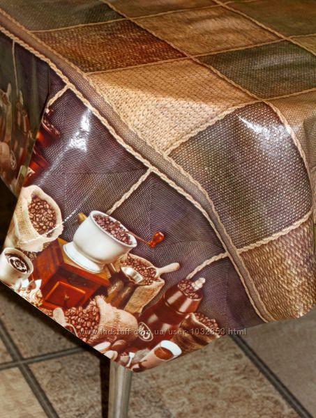 Клеёнка силикон непрозрачная Кофе капучино