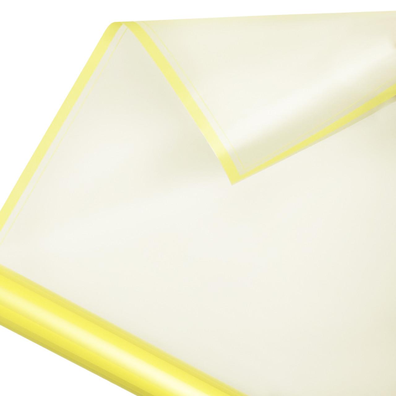 Калька матовий кант в рулоні жовта 60*60 см (15 рамок)