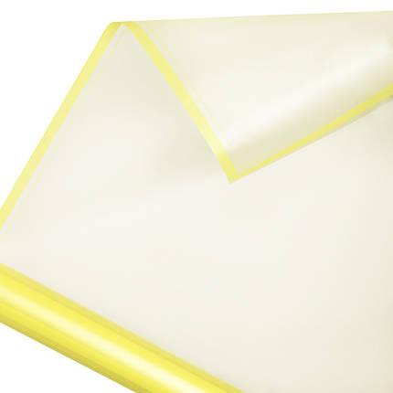 Калька матовий кант в рулоні жовта 60*60 см (15 рамок), фото 2