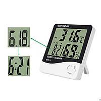Цифровой термо-гигрометр AIRO HTC-1 (термометр (-20 °C~+60 °C), гигрометр (20%-80%RH), часы-будильник).