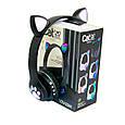 Дитячі навушники з вушками Cat ear headphones VZV-23M, Чорні бездротові навушники (блютуз наушники с ушками), фото 2