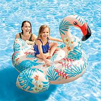 Надувной плотик Фламинго Intex 57559 142х137х97см Детский плот для плавания Тропический интекс для бассейна