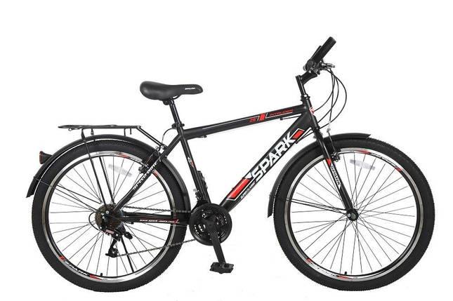 Велосипед SPARK INTRUDER 26-ST-18-ZV-V (Чорний з червоним), фото 2