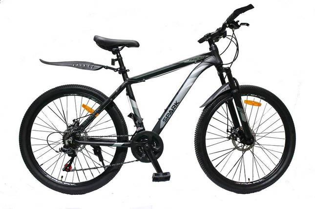 Велосипед SPARK TRACKER 26-AL-18-AM-D (Черный с серым), фото 2