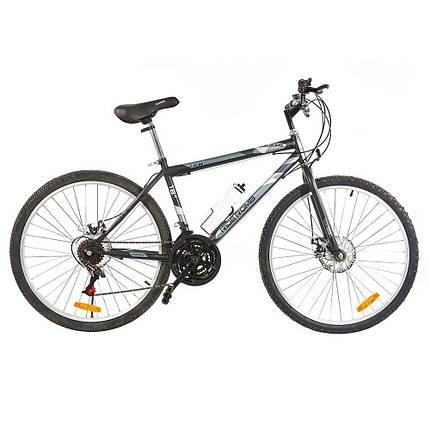 Велосипед SPARK RIDE ROMB D. 21 26-ST-18-ZV-D (Чорний з сірим), фото 2