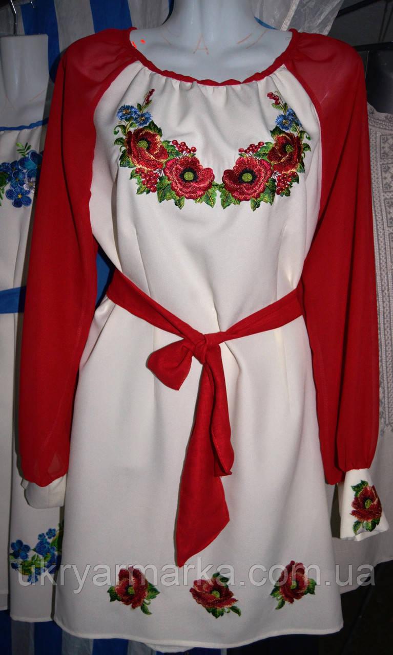 """Вишита жіноча сукня """"Казкова """" червона"""