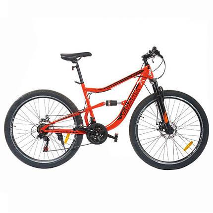 Велосипед SPARK BULLET 27,5-ST-18-AM2-D (Чорний з червоним), фото 2