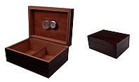 Хьюмидор 09491 для 50 сигар, лак, под дерево, 31х22х12,5 см