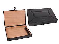 Хьюмидор 09450 для 10 сигар, черный, кожа, 16х22.5х4 см