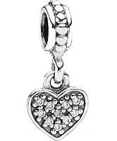 Шарм-подвеска Сердце, серебро