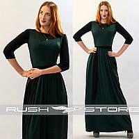 Двухцветное платье в пол