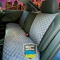 Накидки-чехлы на задние сиденья авто из алькантары (серые)