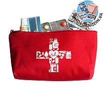 Плотная сумочка для хранения лекарств (красный)