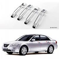 Hyundai Sonata NF Накладки на ручки хром пластиковые