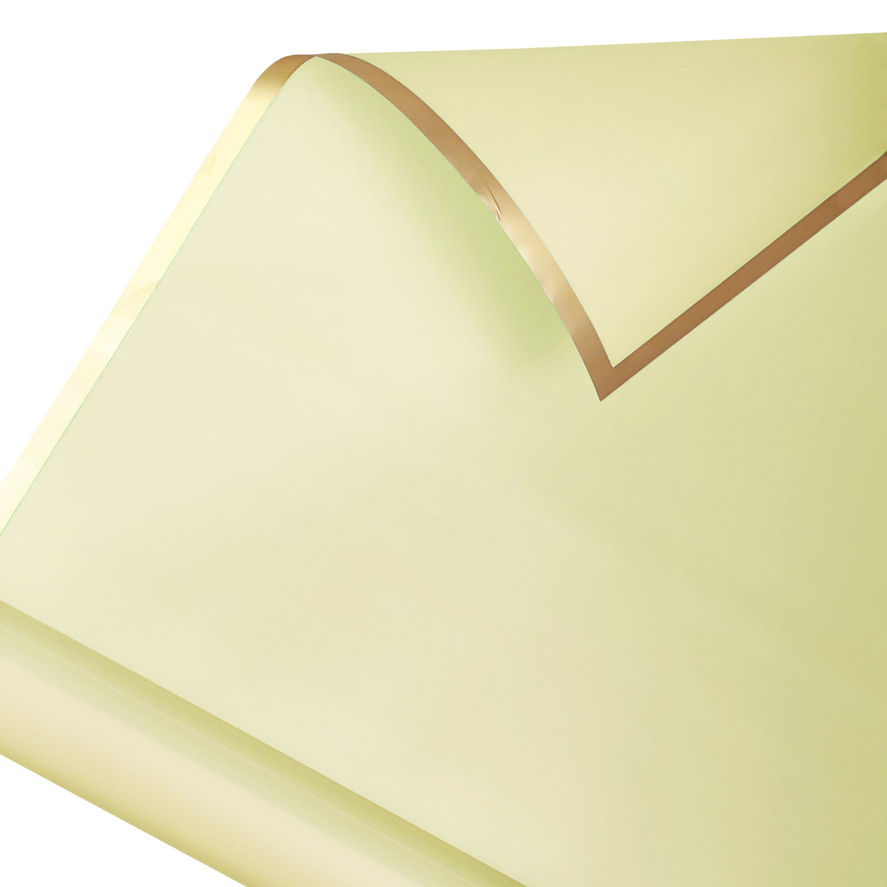 Калька золотой кант в рулоне айвори 60*60 см (15 рамок)