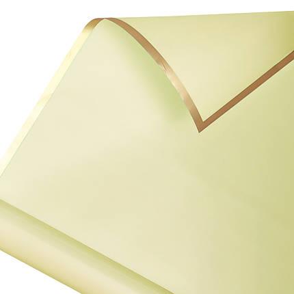 Калька золотой кант в рулоне айвори 60*60 см (15 рамок), фото 2