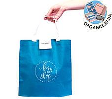 Складна сумка для покупок/Shopper bag економ (блакить)