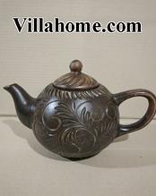 Чайник с орнаментом из красной глины. Объем 1л