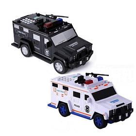 Сейф детский машина полиции LEGO (Black)   Копилка машина с кодовым замком