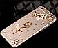 Iphone 6 plus чехол прозрачный со стразами, балерина и цветы с камнями, фото 2