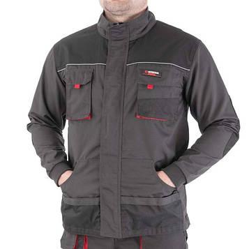Куртка рабочая 80 % полиэстер, 20 % хлопок, плотность 260 г/м2, M INTERTOOL SP-3002