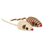 Trixie (Трикси) Игрушка для кошек мышка обмотка из хлопкового шнура и лыка 5см