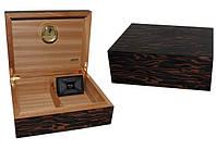 Хьюмидор JEMAR 7103982 для 70 сигар, зебра, 28х22х10 см