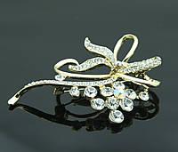 Роскошная женская брошь с кристаллом. Оптовая бижутерия в Никополе. 375
