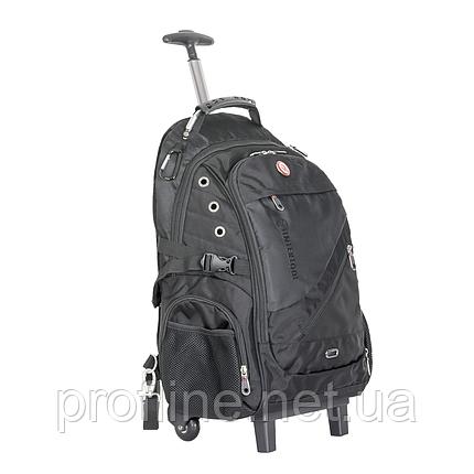 Рюкзак дорожный Intertool 3 отделения, 30 л. на колесах с телескопической ручкой, фото 2