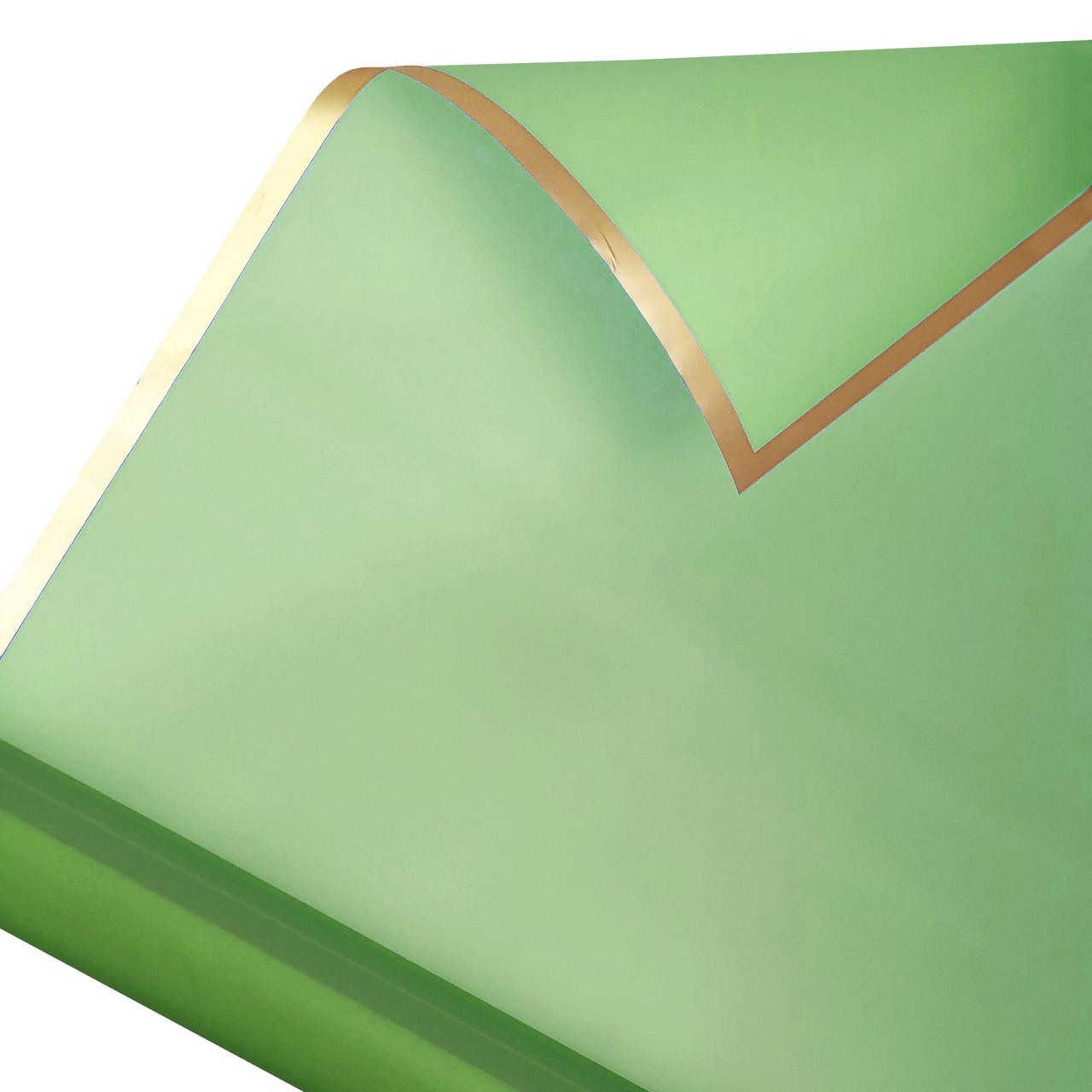 Калька золотий кант в рулоні зелена 60*60 см (15 рамок)