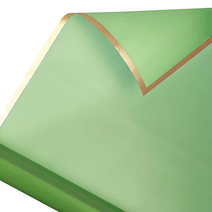 Калька золотий кант в рулоні зелена 60*60 см (15 рамок), фото 2