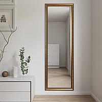 Зеркало настенное большое в золотой багетной раме 180х60 Black Mirror в ванну спальню коридор прихожую магазин