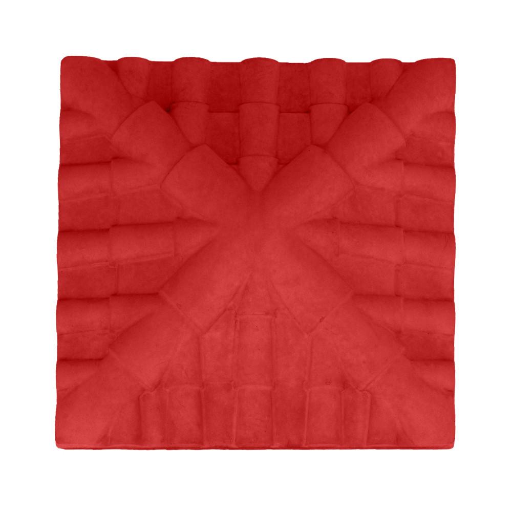 Кришка для стовпчика Черепиця червона фарбована лак 34*34*9,5 П