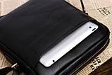 Якісна чоловіча сумка через плече-шкіряна барсетка планшетка Поло, Чоловіча сумка-планшет Polo еко шкіра, фото 4