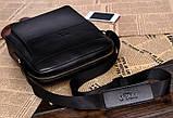 Якісна чоловіча сумка через плече-шкіряна барсетка планшетка Поло, Чоловіча сумка-планшет Polo еко шкіра, фото 9