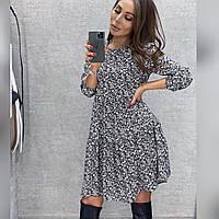Женское легкое платье свободного кроя батал, фото 1