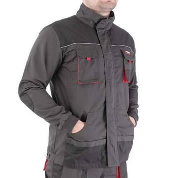 Куртка рабочая 80 % полиэстер, 20 % хлопок, плотность 260 г/м2, ХL INTERTOOL SP-3004