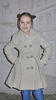 """Кашемировое пальто для девочки  """"Классик"""" (бежевое), фото 1"""
