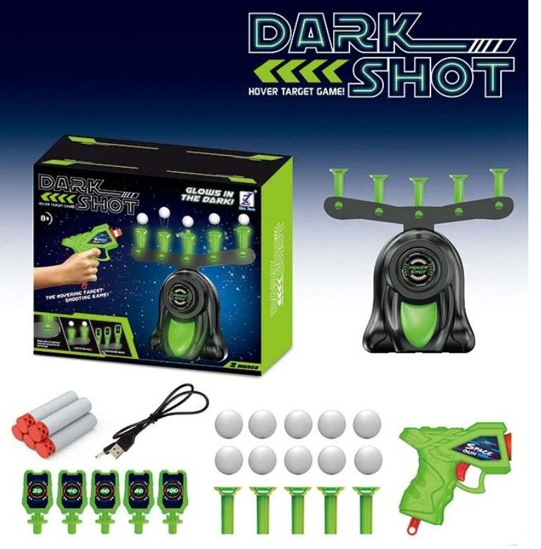 """Воздушный тир 3360 """"Dark Shot"""" на батарейках. Работает от USB. Пистолет и 5 мягких патрона"""